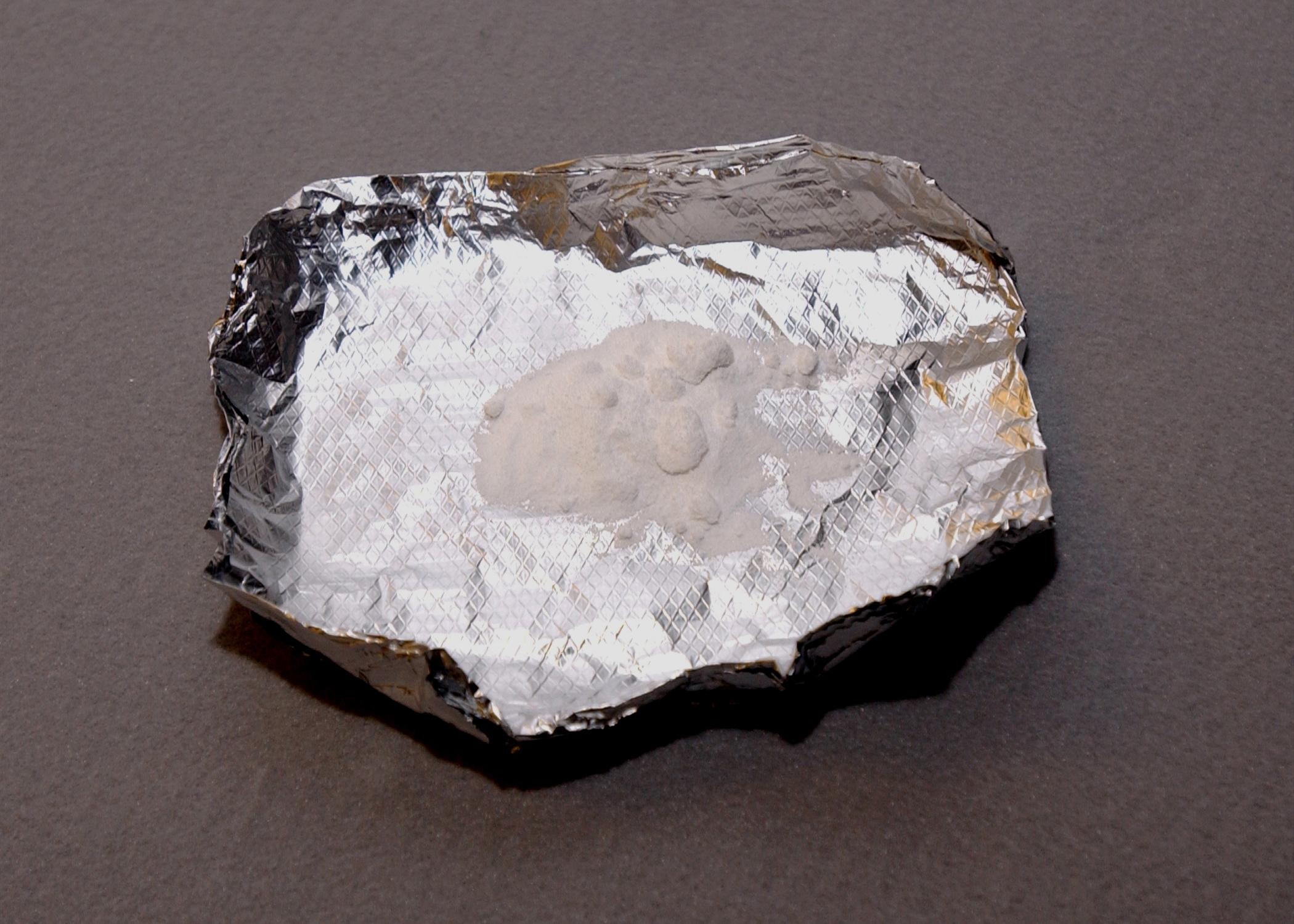 Powder Methamphetamine in Foil
