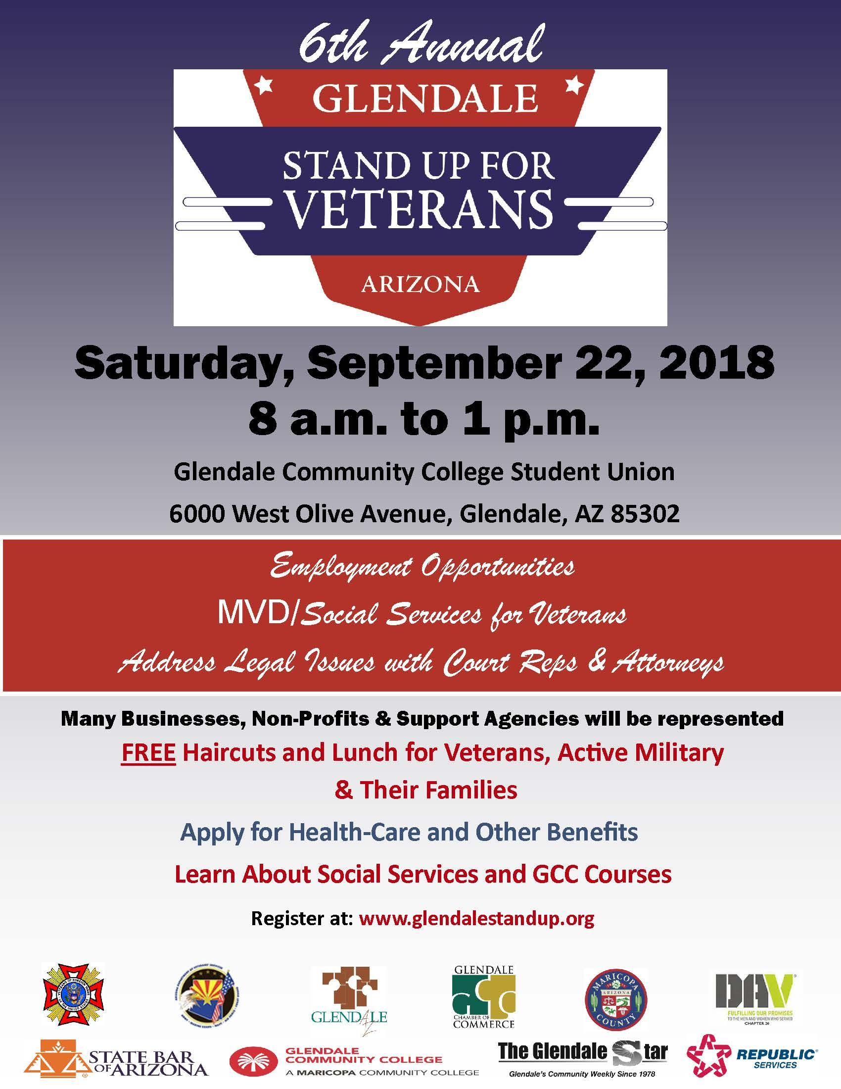 Glendale Stand Up for Veteran's Job Fair Flyer