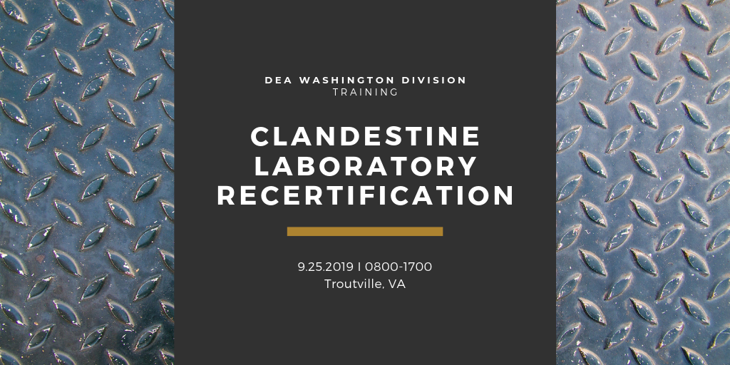 Clandestine Laboratory Recertification course advertisement