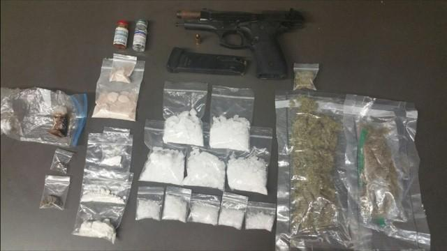 drugs and gun seized from Jacob Collett