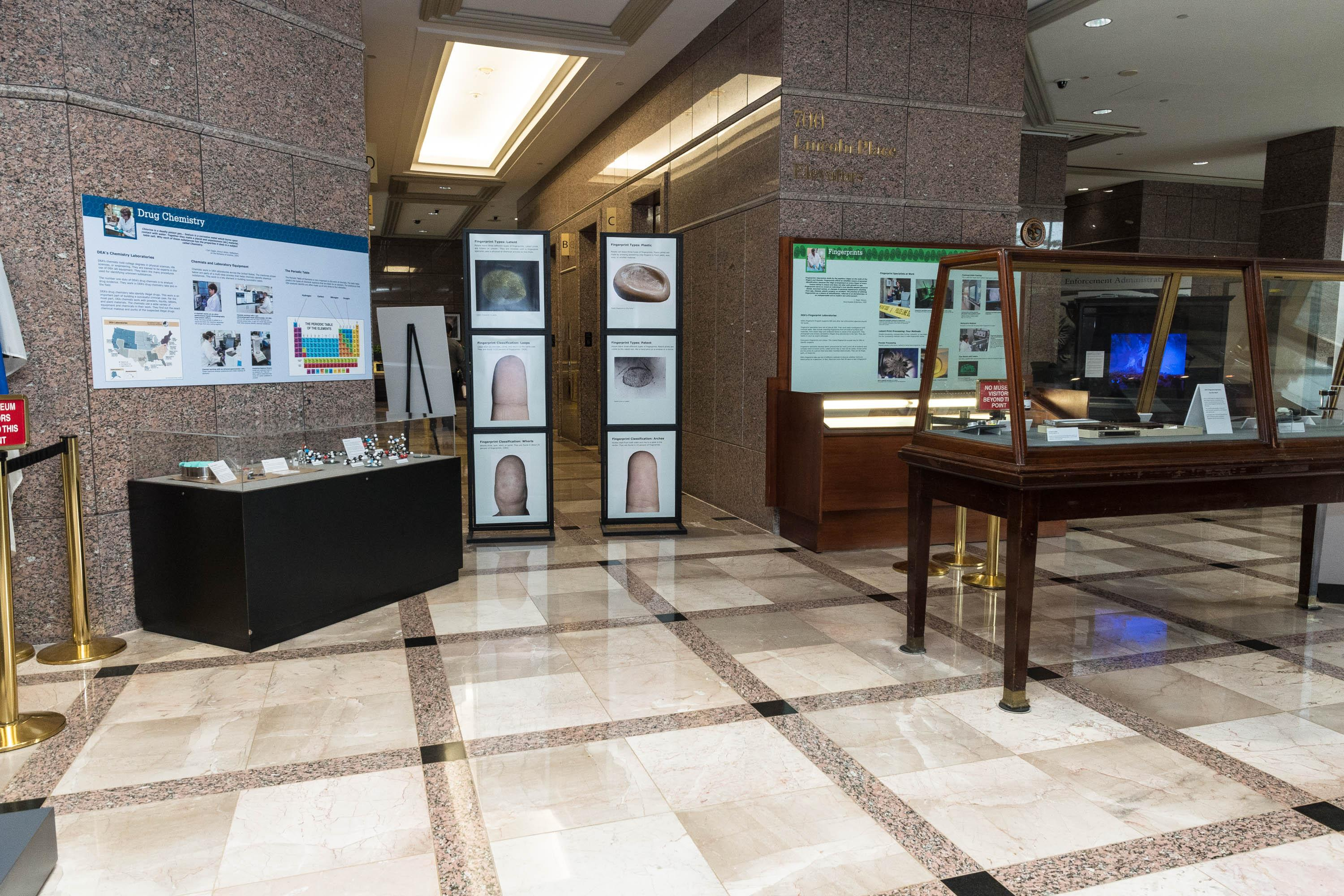 DEA Forensic Science lobby exhibit
