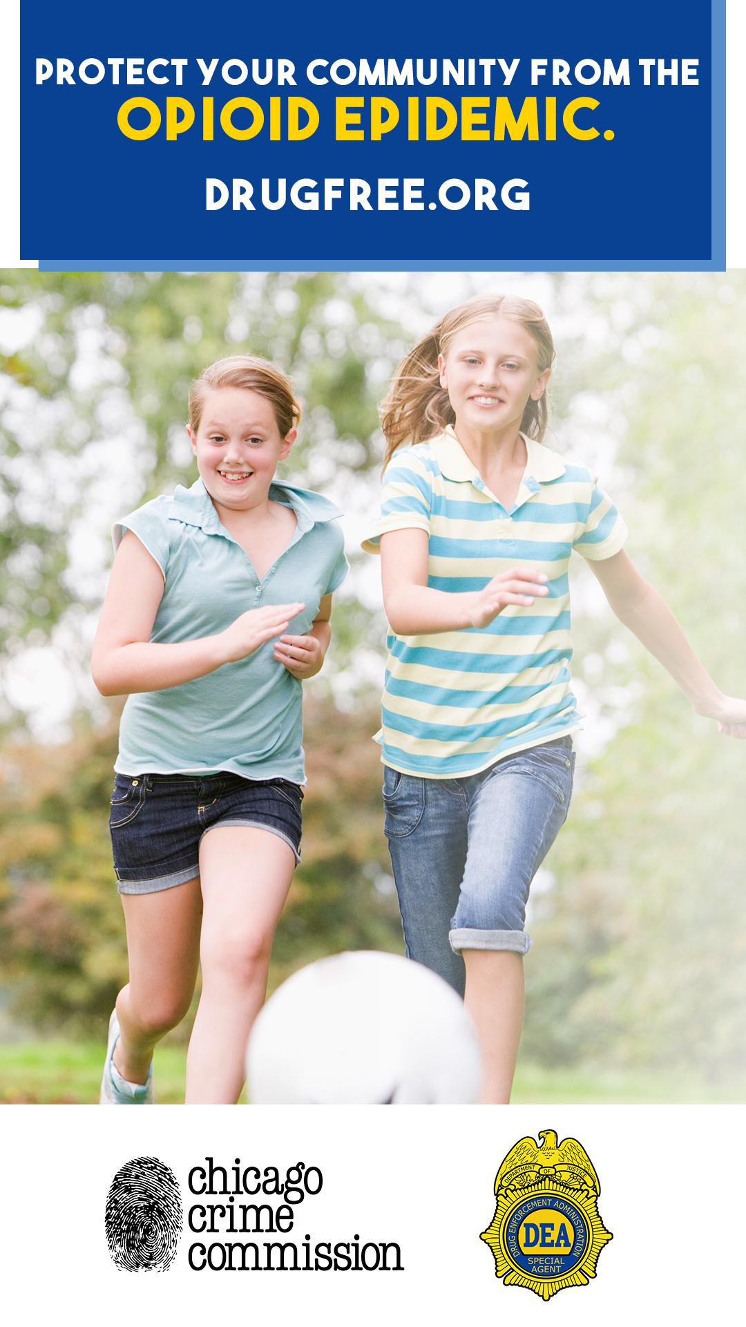 Brochure image of children running