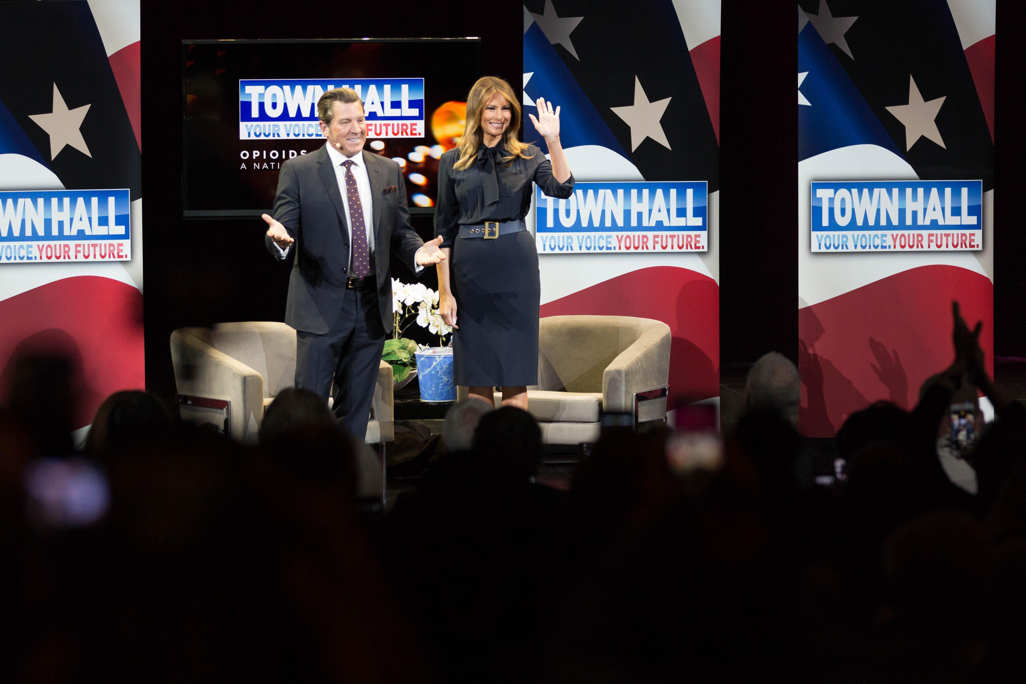 Image of FLOTUS and host Eric Bolling