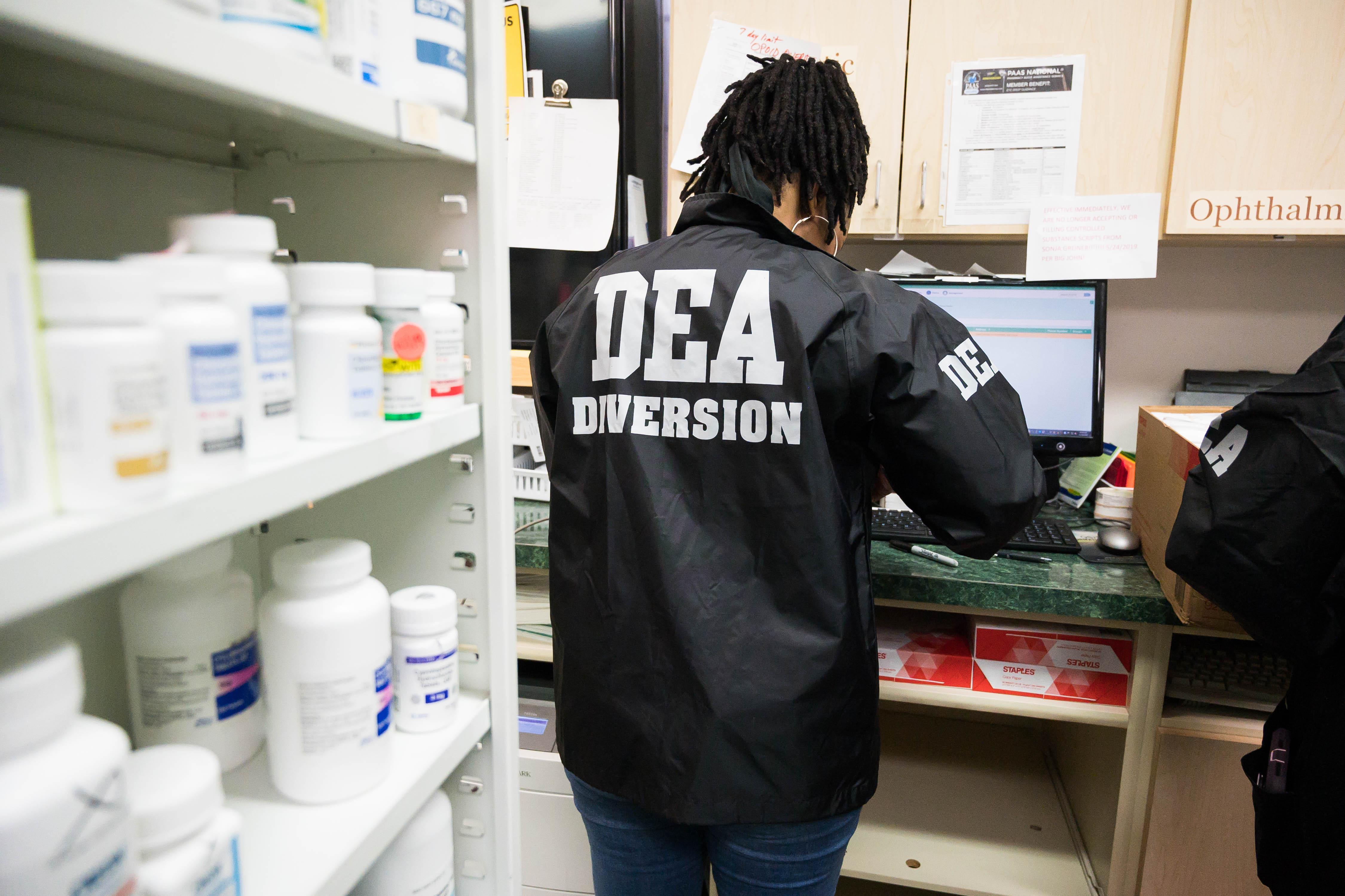 DEA Mobile Diversion Squad team member at work