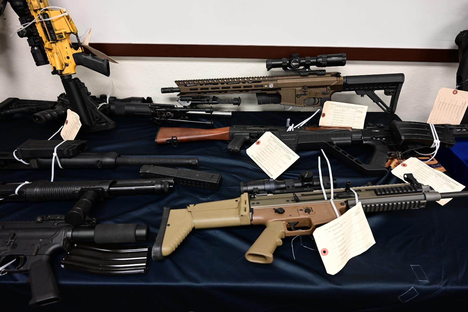 Guns seized in Operation Crystal Shield