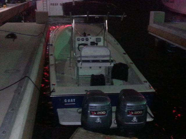 Smugglers' open hull fishing vessel detected by USCG Marine Patrol Aircraft 25 nm west of St. Croix, USVI.