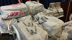 Caribbean Corridor Strike Force seized 2,425 pounds of cocaine off the southern coast of Vieques, Puerto Rico.