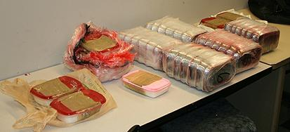 Approximately 38 pounds of methamphetamine seized by DEA and the Chicago Police Department.