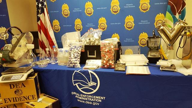 Display of seized items during Operation Cyber Juice