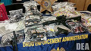 Guns, money and synthetic drugs seized as part of Project Synergy III
