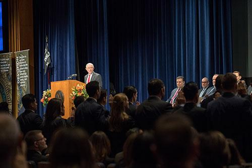 Attorney General Sessions swears in the 42 new DEA Special Agents as they graduate from Basic Agent training on Friday.