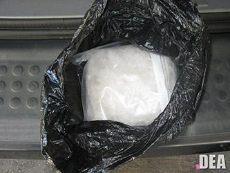 Drug evidence: a package of meth seized as part of the Operation Roman Empire investigation