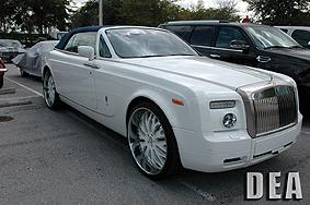 Highest sold vehicle, 2008 Rolls Royce Phantom for $246,510. Appraised at $292,000.
