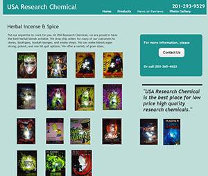 Websites found by investigators where Muhammad marketed his synthetic drugs for sale.