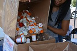 A New Orleans Field Division Diversion Investigator working the Drug-Take Back Initiative last September 2015.
