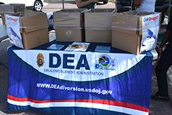 A DEA Take-Back Collection site in the New Orleans Field Division last September 2015.