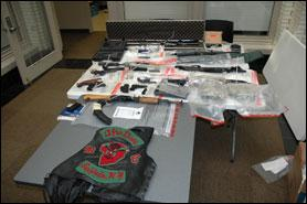 Guns seized as result of the operation.