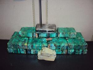 Seized heroin and cash.