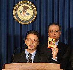 Associate SAC Keith Kruskall comments on the dangers of synthetic cannabinoids at a press conference in lower Manhattan on September 16, 2015