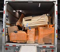 Furniture containing drugs and drug profits inside Uhaul ready for transport.