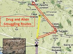 Drug and Alien Smuggling Routes