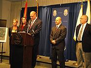 FBI ASACAnnette Bartlett; State Assistant Prosecutor Kim Ortiz; Arizona Attorney General Tom Horne; Acting SAC Doug Coleman, and South Tucson Police Chief Richard Munoz at press conference.
