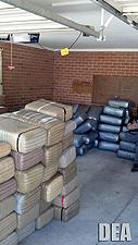 Bundles of marijuana found in a residence in Tucson.