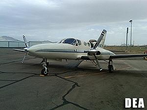 Cessna Aircraft seized during an investigation.