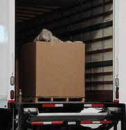 Box truck containing marijuana that was stopped by California Highway Patrol