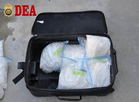 40 pounds of methamphetamine seized during Op Knight Stalker.