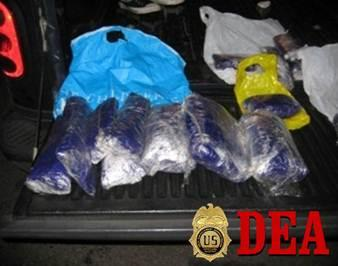 40 pounds of methamphetamine seized during investigation.