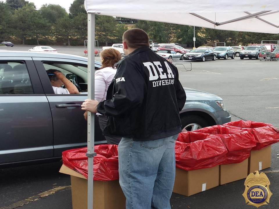 Law Enforcement community partner assisting a resident in the Pacific Northwest with the disposal of prescription medications.
